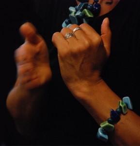 Kloppen op de zijkant van de hand, onderdeel van EFT